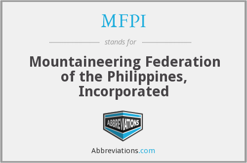 MFPI - Mountaineering Federation of the Philippines, Incorporated