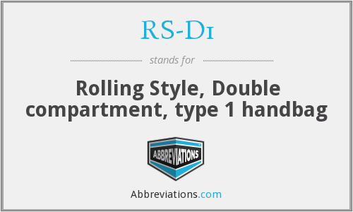 RS-D1 - Rolling Style, Double compartment, type 1 handbag
