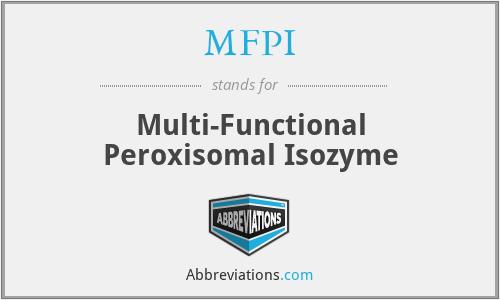 MFPI - Multi-Functional Peroxisomal Isozyme