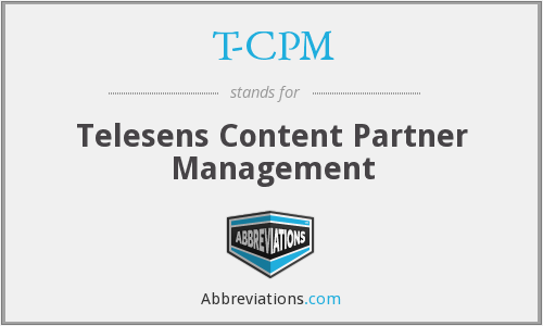 T-CPM - Telesens Content Partner Management