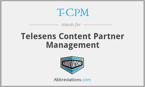 T-CPM - Telesens Content Partner Management