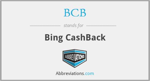 BCB - Bing CashBack