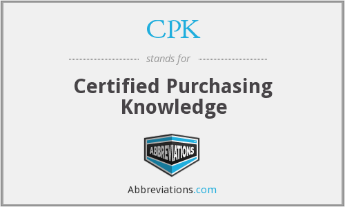 CPK - Certified Purchasing Knowledge