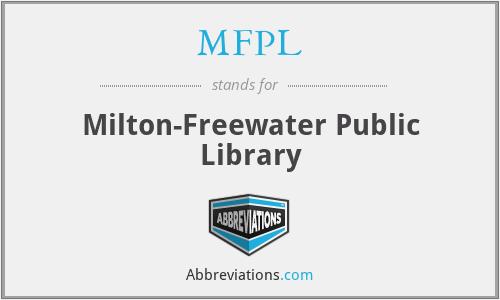 MFPL - Milton-Freewater Public Library