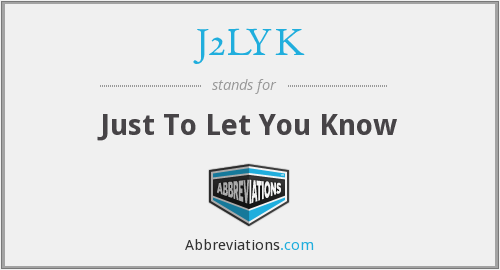What does J2LYK stand for?