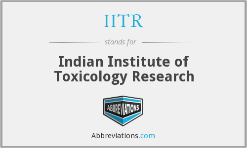 What does IITR stand for?
