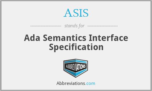 ASIS - Ada Semantics Interface Specification