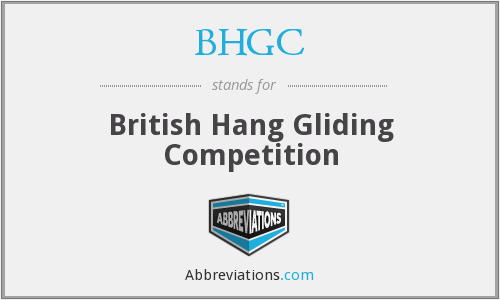 BHGC - British Hang Gliding Competition