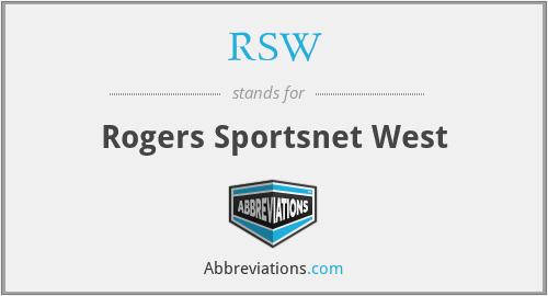 RSW - Rogers Sportsnet West