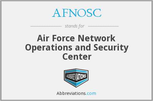 What does AFNOSC stand for?