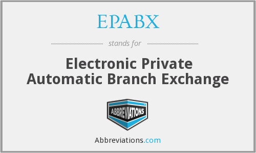What does EPABX stand for?