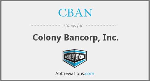 CBAN - Colony Bancorp, Inc.
