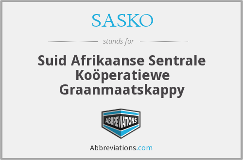 What does SASKO stand for?