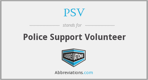 PSV - Police Support Volunteer