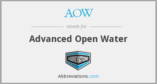 AOW - Advanced Open Water