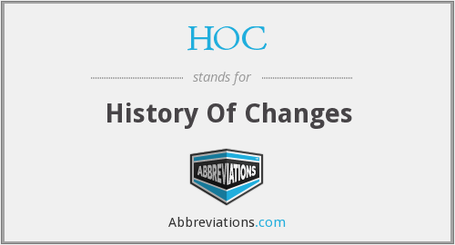 HOC - History Of Changes