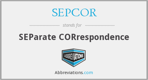 What does SEPCOR stand for?