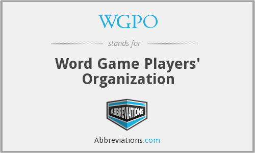 WGPO - Word Game Players' Organization