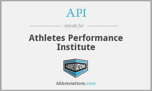 API - Athletes Performance Institute