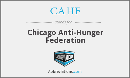 CAHF - Chicago Anti-Hunger Federation