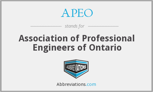 APEO - Association of Professional Engineers of Ontario