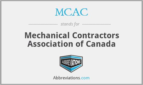 MCAC - Mechanical Contractors Association of Canada