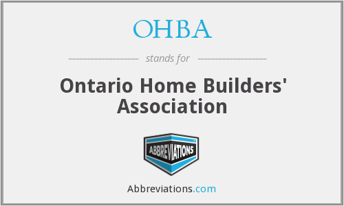 What does OHBA stand for?