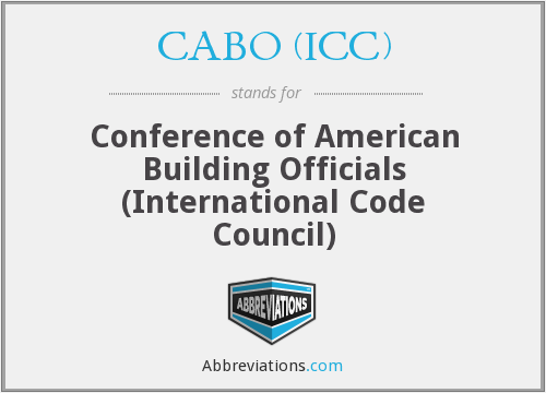What does CABO (ICC) stand for?