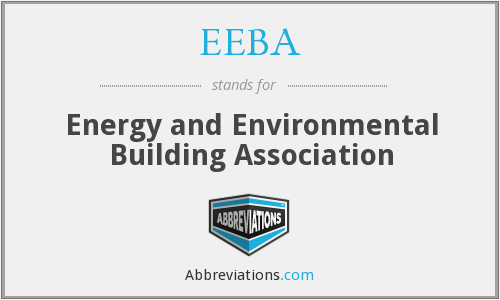EEBA - Energy and Environmental Building Association