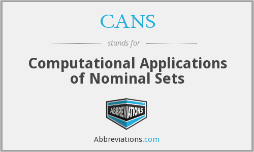 CANS - Computational Applications of Nominal Sets