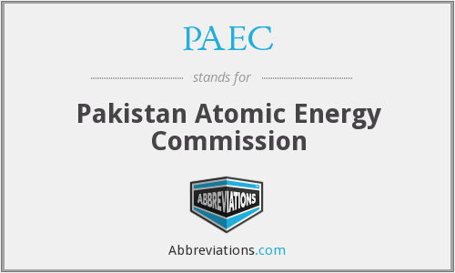 PAEC - Pakistan Atomic Energy Commission