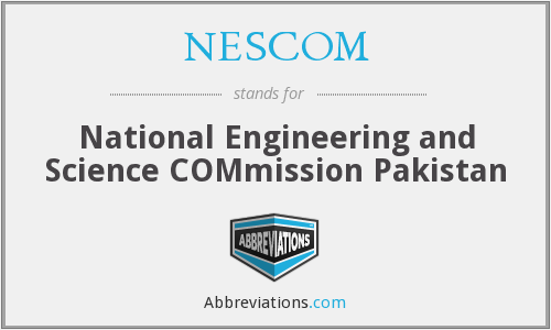 NESCOM - National Engineering and Science COMmission Pakistan