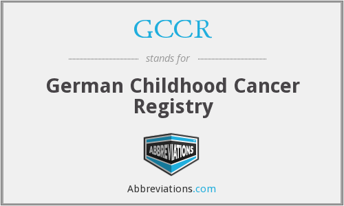 GCCR - German Childhood Cancer Registry