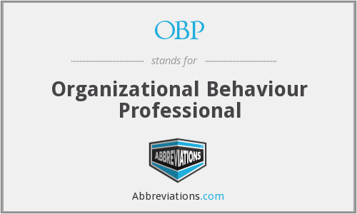 OBP - Organizational Behaviour Professional