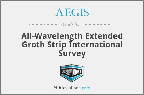 AEGIS - All-Wavelength Extended Groth Strip International Survey