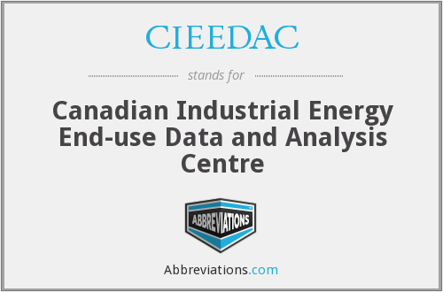 CIEEDAC - Canadian Industrial Energy End-use Data and Analysis Centre