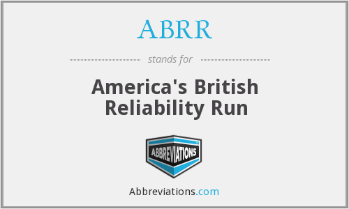 ABRR - America's British Reliability Run