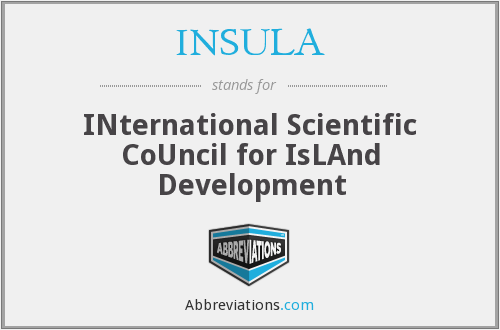 INSULA - INternational Scientific CoUncil for IsLAnd Development