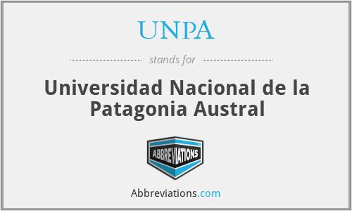 UNPA - Universidad Nacional de la Patagonia Austral