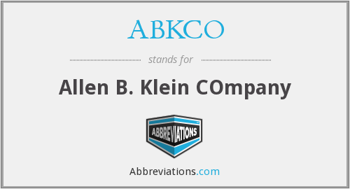 What does ABKCO stand for?