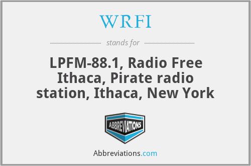 WRFI - LPFM-88.1, Radio Free Ithaca, Pirate radio station, Ithaca, New York