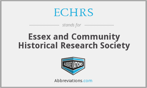 ECHRS - Essex and Community Historical Research Society
