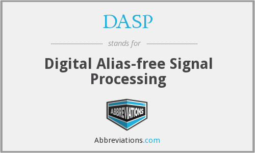 DASP - Digital Alias-free Signal Processing