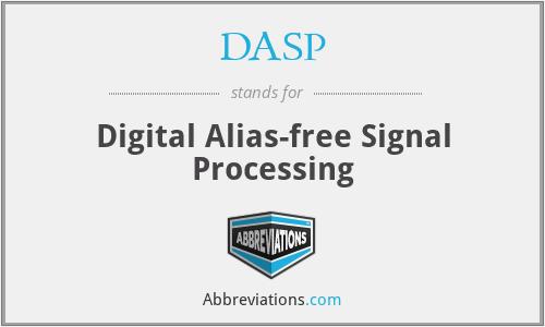 DASP - Digital Alias-free Signal Processing
