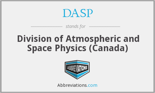 DASP - Division of Atmospheric and Space Physics (Canada)