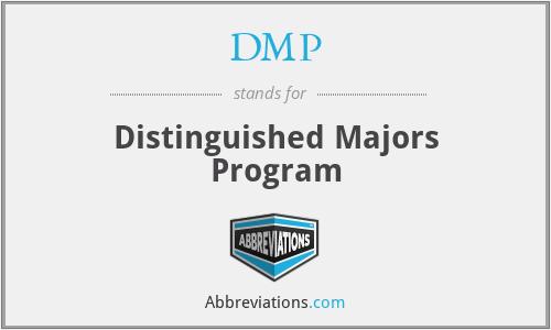 DMP - Distinguished Majors Program