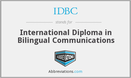 IDBC - International Diploma in Bilingual Communications