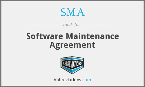 SMA - Software Maintenance Agreement