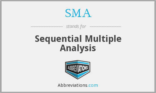 SMA - Sequential Multiple Analysis