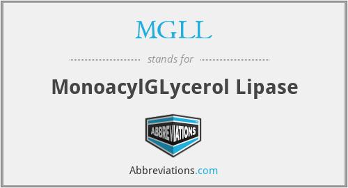 MGLL - MonoacylGLycerol Lipase